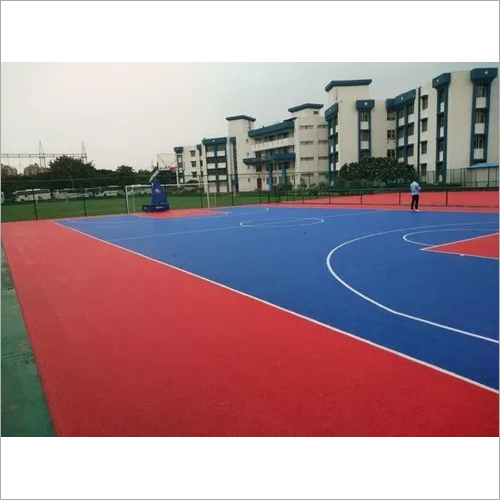 Colorful Outdoor Interlocking Basketball Court Anti - Slip Flooring