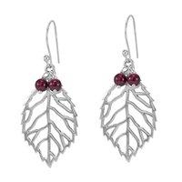 Rhodolite Garnet Gemstone Silver Earring PG-156039