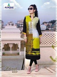 Aliksha Designer Floral Beauty Vol-4 Kurtis Catalog