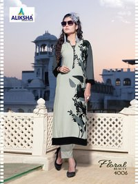 Aliksha Designer Floral Beauty Vol-4 Kurtis Catalog