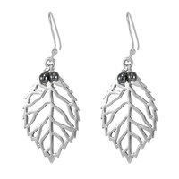 Hematite Gemstone Silver Earring PG-156040