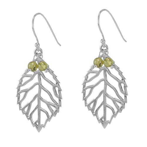 Peridot Gemstone Silver Earring PG-156041