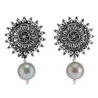 Titainium Pearl Gemstone Earring PG-156050