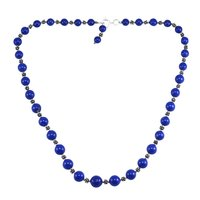 Treated Lapis Gemstone Silver Necklace PG-156054