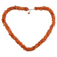Carnelian Gemstone Silver Chips Necklace PG-156055
