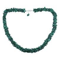 Malachite Gemstone Silver Chips Necklace PG-156057