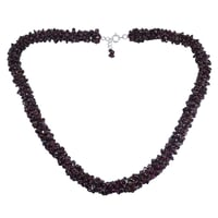 Rhodolite Garnet Gemstone Chips Necklace PG-156059