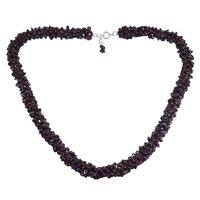 Rhodolite Garnet Gemstone Chips Necklace PG-156059