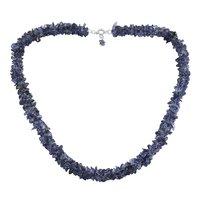 Iolite Gemstone Silver Chips Necklace PG-156060