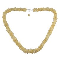Citrine Gemstone Silver Chips Necklace PG-156062