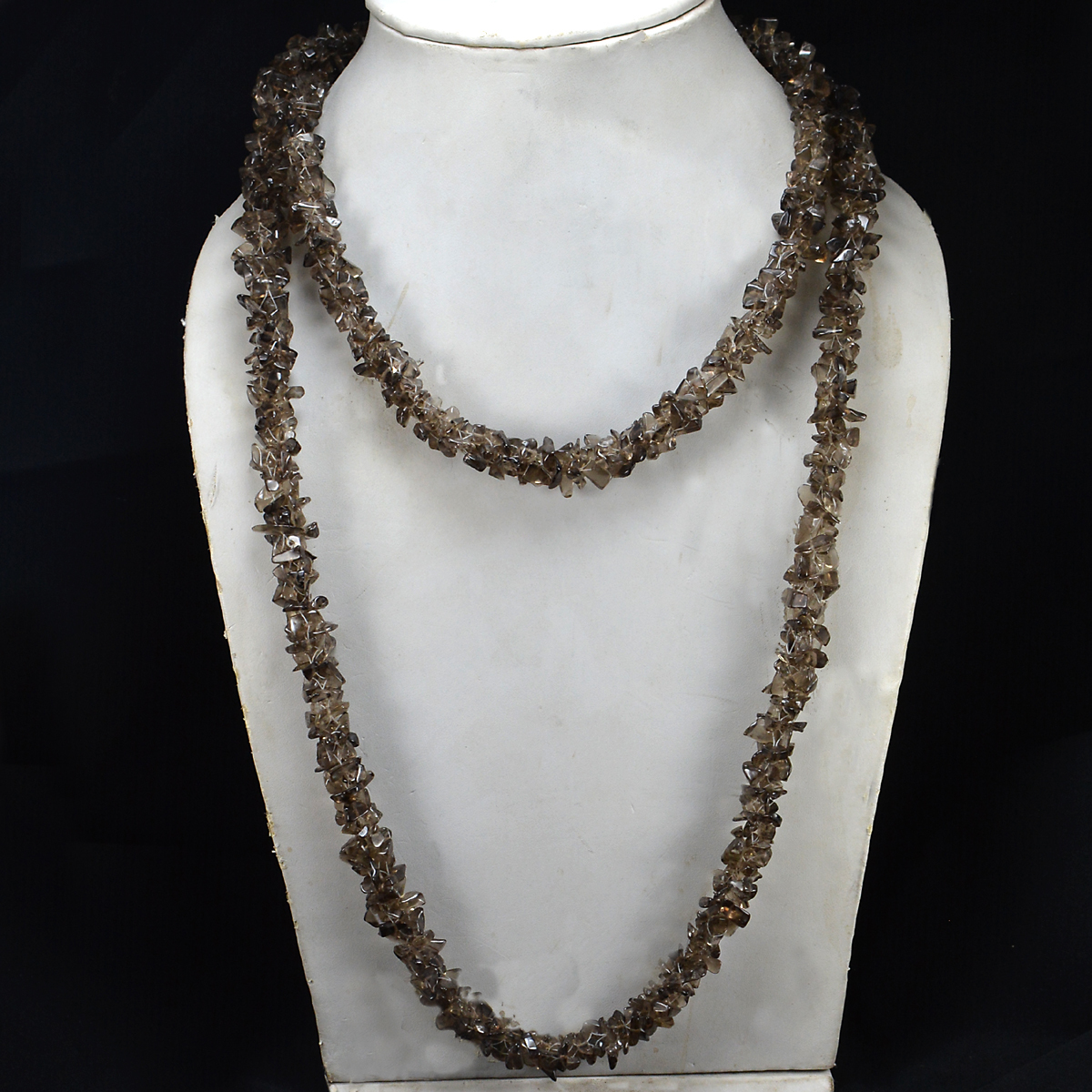 Smokey Crystal Gemstone Chips Necklace PG-156063