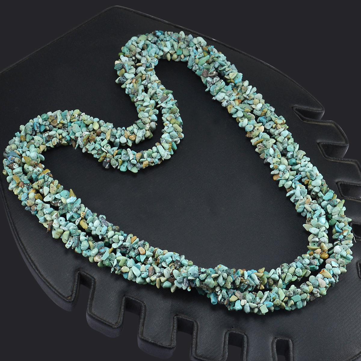 Turquoise Gemstone Chips Necklace PG-156067