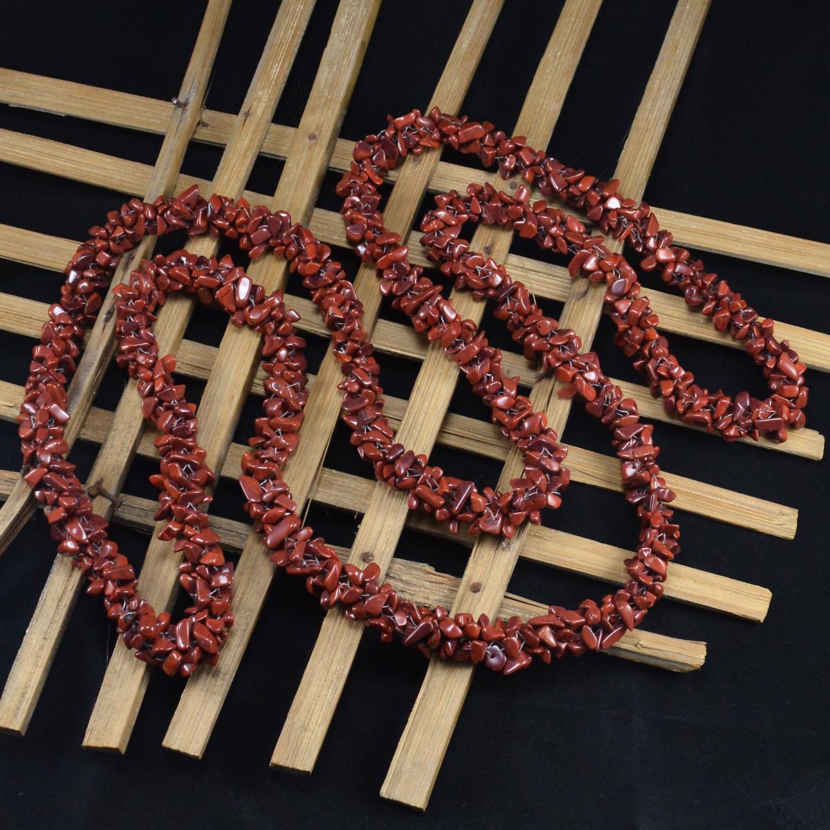 Red Jasper Gemstone Chips Necklace PG-156068
