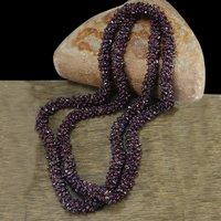 Rhodolite Garnet Gemstone Chips Necklace PG-156071