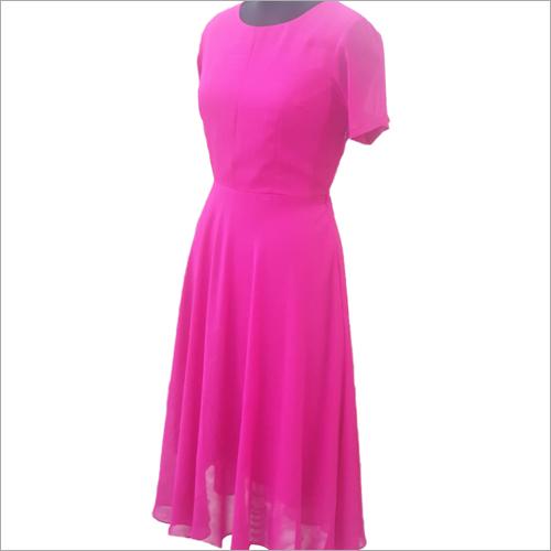 Ladies Round Neck Gown