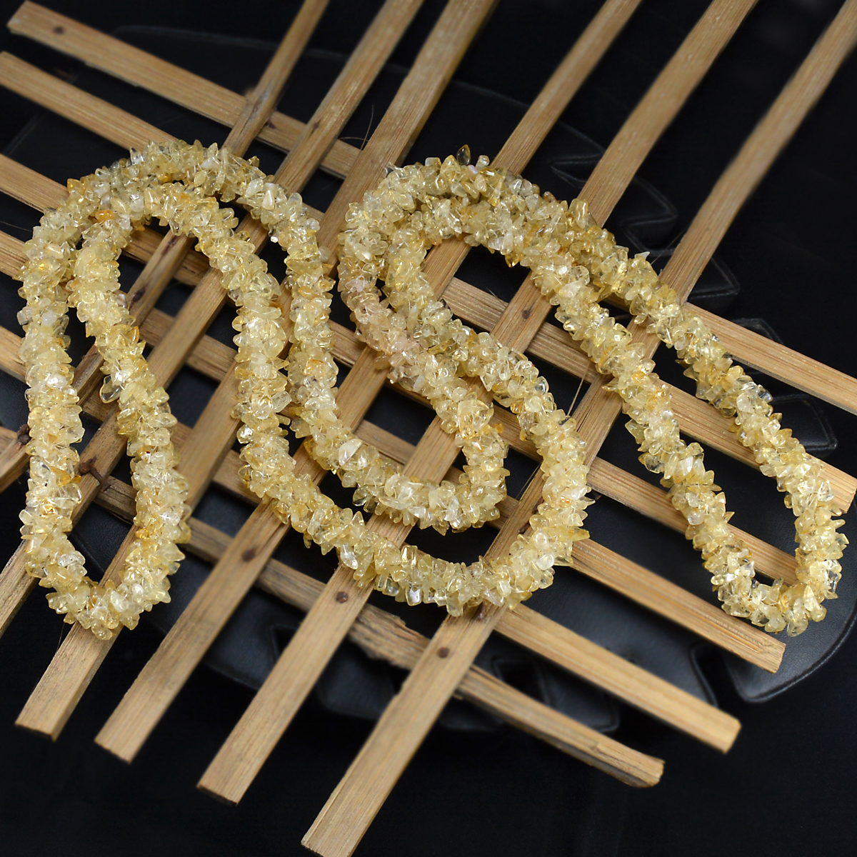 Citrine Gemstone Chips Necklace PG-156072