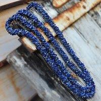 Lapis Lazuli Gemstone Chips Necklace PG-156073