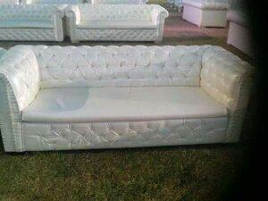 White Rexine Sofa