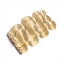 Weft Wavy Blonde Remy Hair
