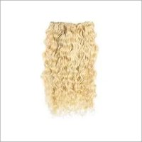 Weft Curly Blonde Remy Hair
