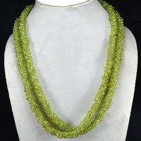 Peridot Gemstone Chips Necklace PG-156078