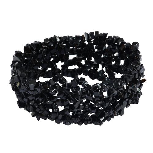 Black Onyx Gemstone Chips Bracelet PG-156081