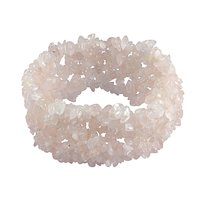 Rose Quartz Gemstone Chips Bracelet PG-156083
