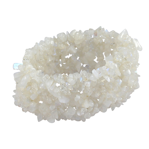 Rainbow Moonstone Gemstone Chips Bracelet PG-156085