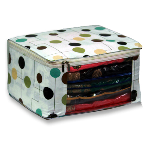 Colorful dots Multi saree packing bag