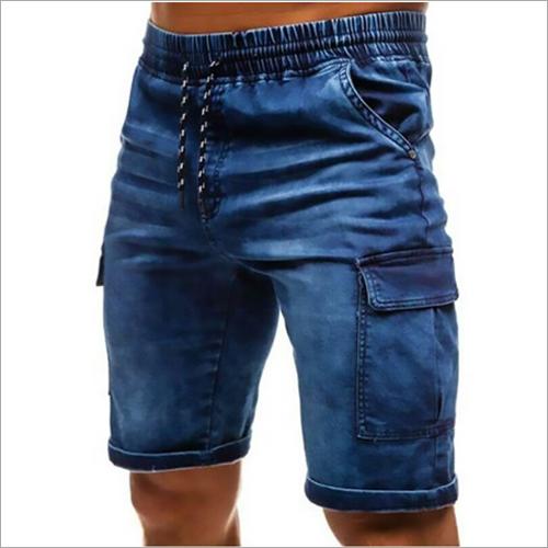 Blue Cargo Half Pant