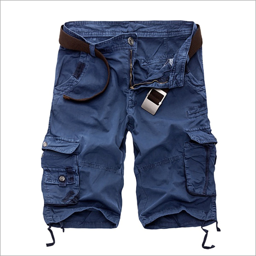 Blue Mens Cargo Shorts