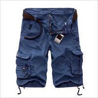 Blue Mens Cargo Shorts