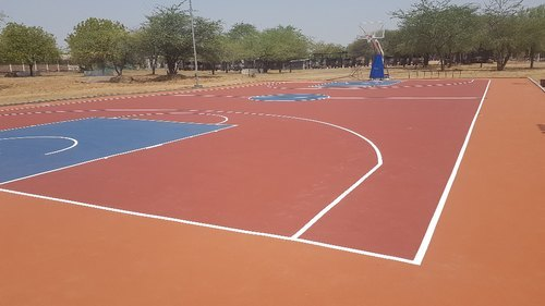Synthetic Basketball Court Flooring 3 Layer Systems