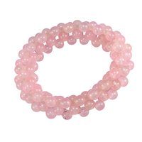 Rose Quartz Gemstone Chips Bracelet PG-156091