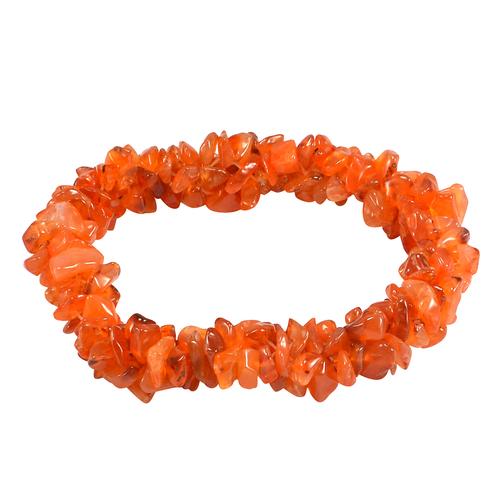 Carnelian Gemstone Chips Bracelet PG-156092