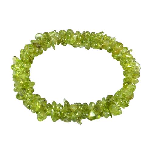 Peridot Gemstone Chips Bracelet PG-156093