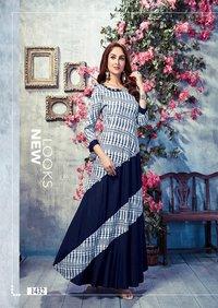 Ambika Present Glamour Anarkali Long Kurta