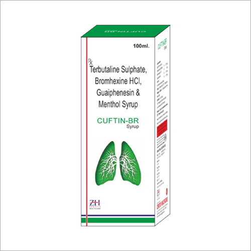 Terbutaline Sulphate Bromhexine HCI Guaiphenesin and Menthol Syrup