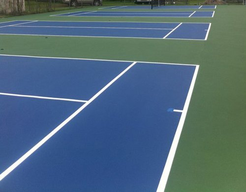 Synthetic Acrylic Tennis Court 12 Layer Systems