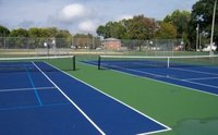 Synthetic Acrylic Tennis Court Manufacturers 8 Layer Systems
