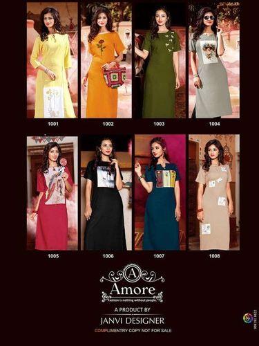 Amore Designer Vaarahi Vol-1 Rayon Kurti