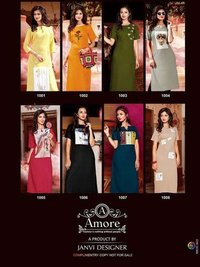 Amore Designer Vaarahi Vol-1 Rayon Kurti for Girls Wear