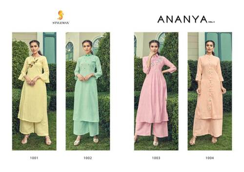 Ananya Vol-1 Cotton Palazzo Wholesale Kurta