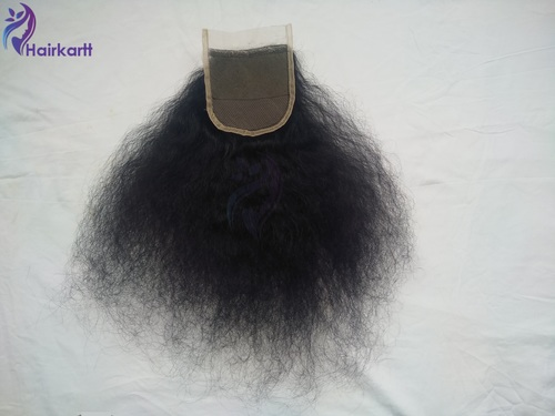 Hairkartt 4 x 4 Swiss Lace Closure Curly (Natural Black)