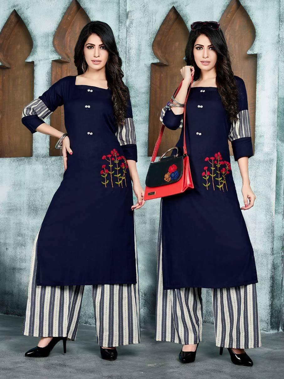 Anishka Vol-2 Manas Rayon Cotton Plazzo Kurti