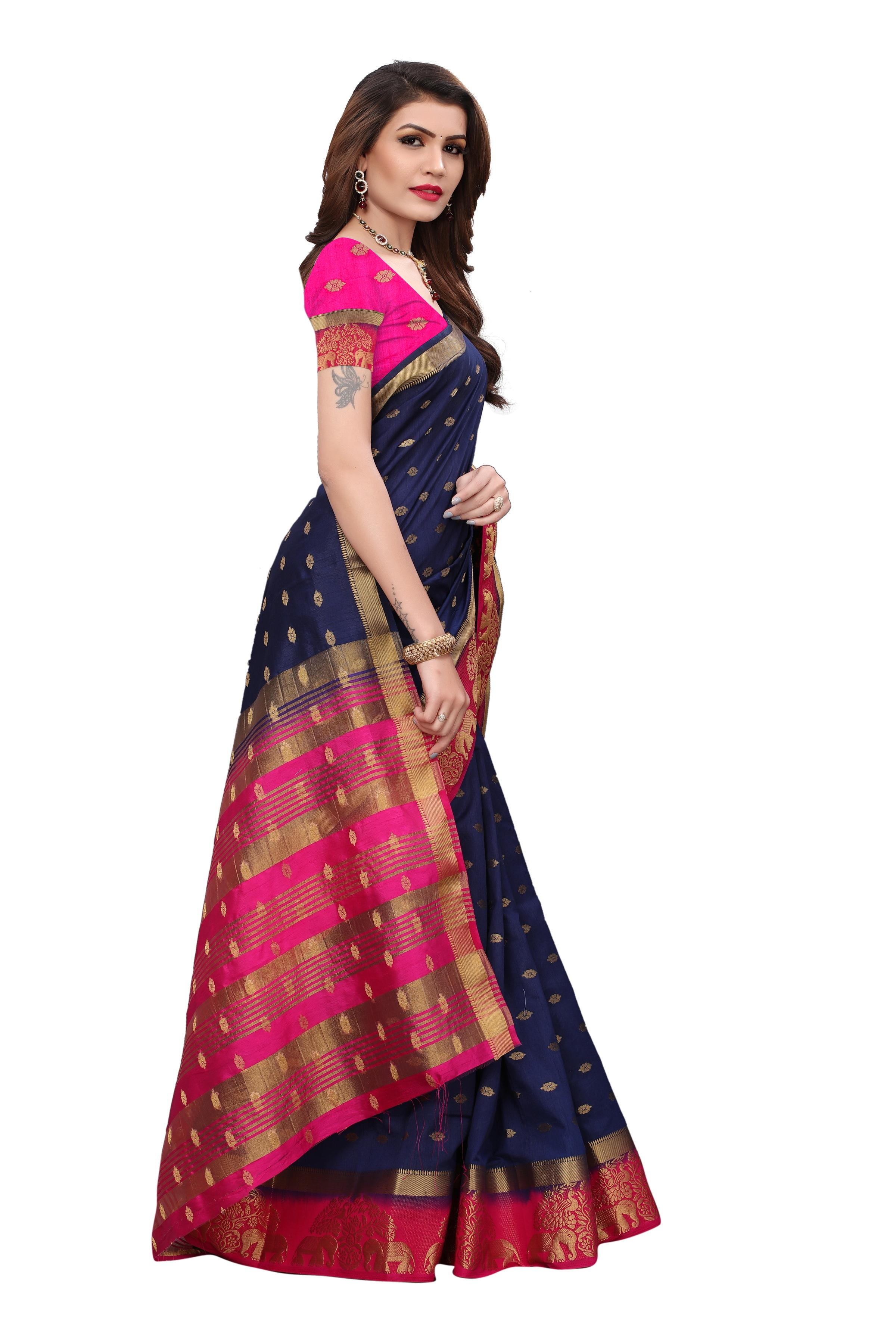 Pure Tusser Silk Saree