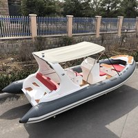 Liya 20ft Inflatable Fishing Boats rigid hull inflatable rib speed boat for sale