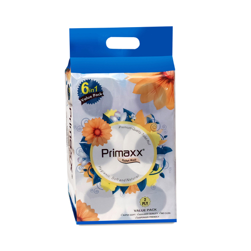 Primaxx Premium Quality Toilet Paper Roll 2 Ply 6 In 1 Value Pack