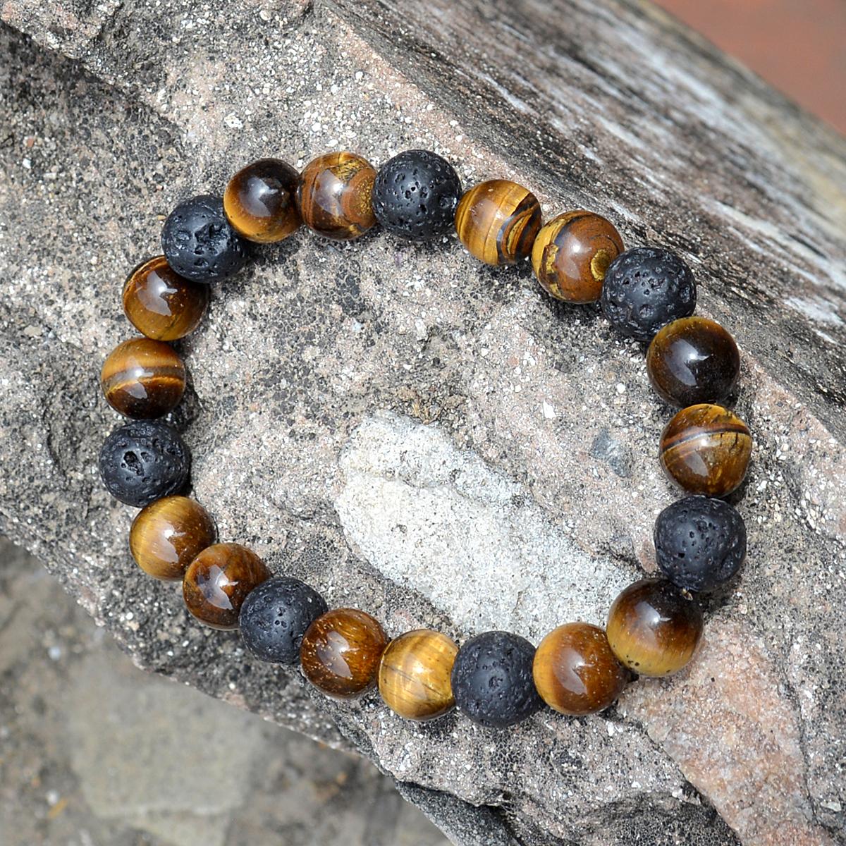Tiger Eye & Lava Stone Bracelet PG-156252