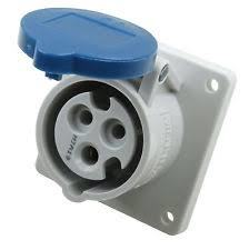 Mennekes 1366 IP44 16Amp 3Pin Industrial Socket Straight